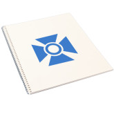 College Spiral Notebook w/Clear Coil-Cross