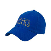 Royal Twill Unstructured Low Profile Hat-ATO 2 Color Greek Letters