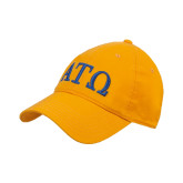 Gold Twill Unstructured Low Profile Hat-ATO Greek Letters