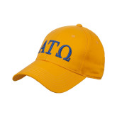 Gold Heavyweight Twill Pro Style Hat-ATO Greek Letters