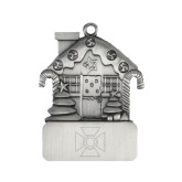 Pewter House Ornament-Cross Engraved
