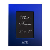 Royal Brushed Aluminum 3 x 5 Photo Frame-ATO Greek Letters Engraved