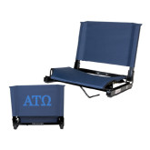 Stadium Chair Navy-ATO Greek Letters