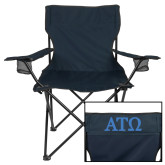 Deluxe Navy Captains Chair-ATO Greek Letters