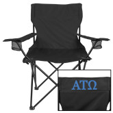 Deluxe Black Captains Chair-ATO Greek Letters