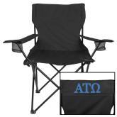 Deluxe Black Captains Chair-ATO Greek Letters