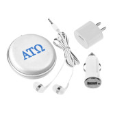 3 in 1 White Audio Travel Kit-ATO Greek Letters