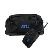 Urban Passage Wheeled Black Duffel-ATO Greek Letters