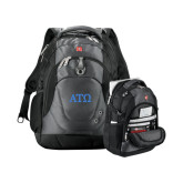 Wenger Swiss Army Tech Charcoal Compu Backpack-ATO Greek Letters