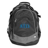 High Sierra Black Titan Day Pack-ATO Greek Letters