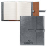Fabrizio Grey Portfolio w/Loop Closure-Adelphi with Panther Head Engraved