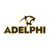 Small Decal-Adelphi with Panther Head, 6 inches wide