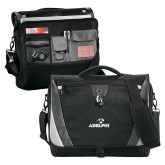 Slope Black/Grey Compu Messenger Bag-Adelphi with Panther Head