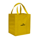 Non Woven Gold Grocery Tote-Adelphi with Panther Head