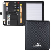 Carbon Fiber Tech Padfolio-Adelphi with Panther Head