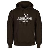 Brown Fleece Hoodie-Athletics