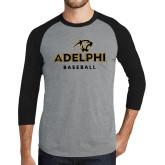 Grey/Black Tri Blend Baseball Raglan-Baseball