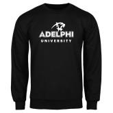 Black Fleece Crew-Panther Head Adelphi University