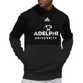 Adidas Black Team Issue Hoodie-Panther Head Adelphi University