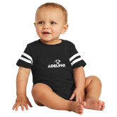 Black Jersey Onesie-Adelphi with Panther Head