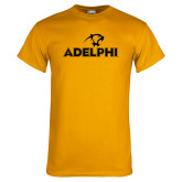 Gold T Shirt-Adelphi with Panther Head