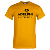 Gold T Shirt-Panther Head Adelphi University