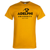 Gold T Shirt-Panther Head Adelphi University New York
