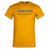 Gold T Shirt-Adelphi University New York Institutional