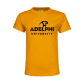 Youth Gold T Shirt-Panther Head Adelphi University