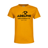Youth Gold T Shirt-Panther Head Adelphi University New York