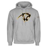 Grey Fleece Hoodie-Panther Head