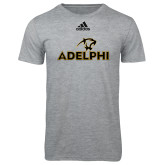 Adidas Sport Grey Logo T Shirt-Adelphi with Panther Head