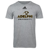 Adidas Sport Grey Logo T Shirt-Panther Head Adelphi University
