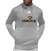 Adidas Grey Team Issue Hoodie-Adelphi with Panther Head