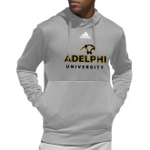 Adidas Grey Team Issue Hoodie-Panther Head Adelphi University