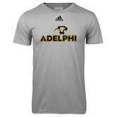 Adidas Climalite Sport Grey Ultimate Performance Tee-Adelphi with Panther Head