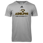 Adidas Climalite Sport Grey Ultimate Performance Tee-Panther Head Adelphi University