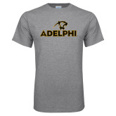 Grey T Shirt-Adelphi with Panther Head