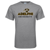 Grey T Shirt-Panther Head Adelphi University