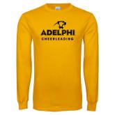 Gold Long Sleeve T Shirt-Cheerleading