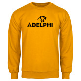 Gold Fleece Crew-Adelphi with Panther Head