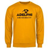 Gold Fleece Crew-Panther Head Adelphi University