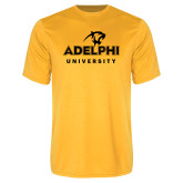 Performance Gold Tee-Panther Head Adelphi University