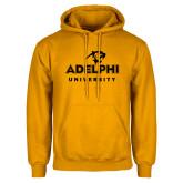 Gold Fleece Hoodie-Panther Head Adelphi University
