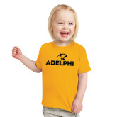 Toddler Gold T Shirt-Adelphi with Panther Head