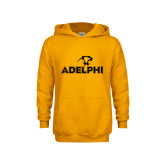 Youth Gold Fleece Hoodie-Adelphi with Panther Head