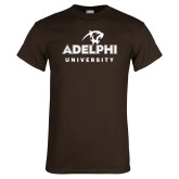Brown T Shirt-Panther Head Adelphi University