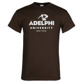 Brown T Shirt-Panther Head Adelphi University New York