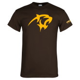Brown T Shirt-Panther Head