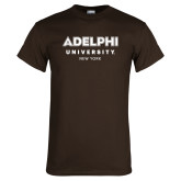 Brown T Shirt-Adelphi University New York Institutional